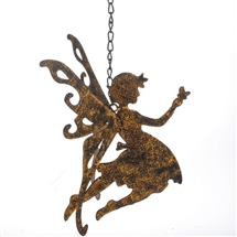 Rustic Hanging Fairy with Butterfly