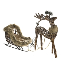 Dasher Reindeer With Sleigh