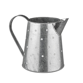 Antique Metal White Dot Watering Can 37cm