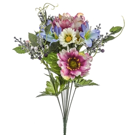 Peony And Daisy Bunch 44cm