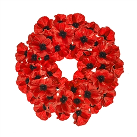 Poppy Wreath 40cm