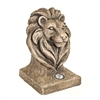 Lion Head With Solar Light 44cm