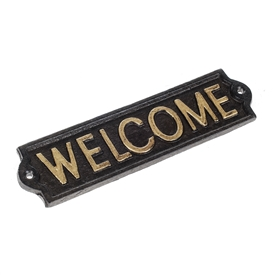 DUE JAN Cast Iron Welcome Sign