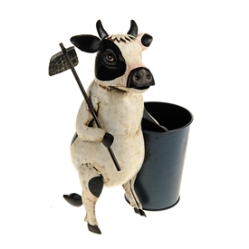 Farmyard Cow With Garden Tools 33cm