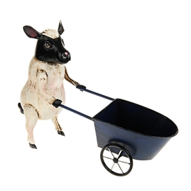 Farmyard Sheep With Wheelbarrow 45cm