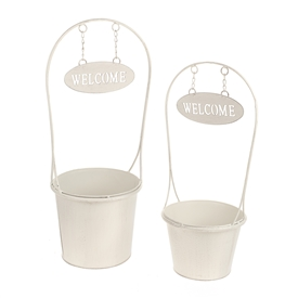 DUE JAN Set Of 2 Welcome Planters