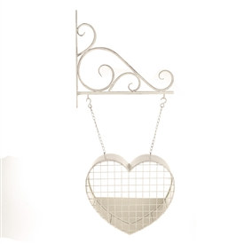 Hanging Heart Garden Planter 83cm