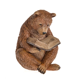 DUE JAN Country Living Bear With Solar Book 22cm