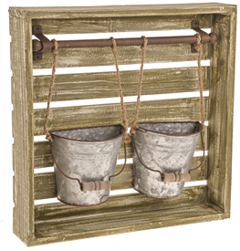 DUE JAN Rustic Hanging Planters 37cm