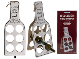 Wooden Wine Bottle Holder 60cm