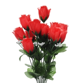 Flora Red Rose Bud Bunch 45cm