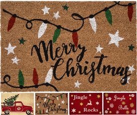 Festive Doormat 4 Assorted 60cm