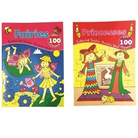 Fairies And Princess Sticker Books 2 Assorted