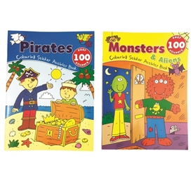 Monster And Pirates Sticker Books 2 Assorted