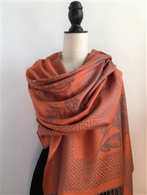 Oriental Orange Pashmina
