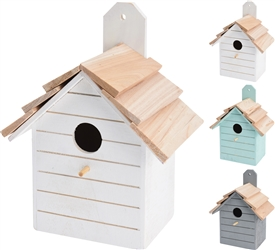 Wooden Birdhouse 3 Assorted Colours