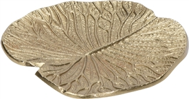 Gold Leaf Shape Jewellery Dish 16cm
