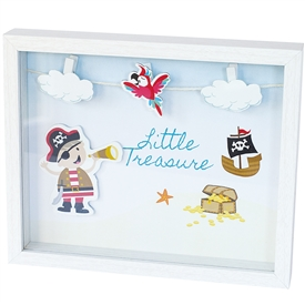 'Little Treasure' Wooden 3D Pirate Wall Art