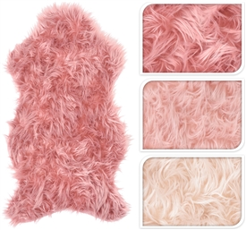 Pink Sheepskin Rug 3 Assorted 90cm