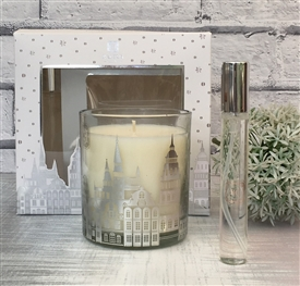 Candle And Room Spray Gift Set Silver