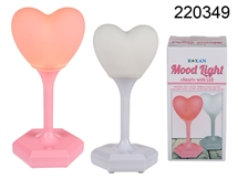 Plastic LED Heart Mood Light 2 Assorted