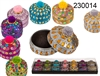 Colourful Round Jewelry Box 7 Assorted 6cm