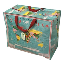 World Map Jumbo Storage Bag 55cm