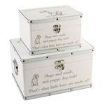 Boys set of storage boxes