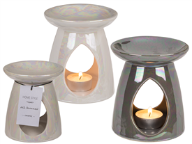 Pearly Finish Oil Burner 2 Assorted 11cm