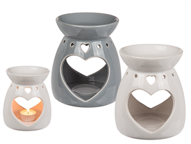 Heart Cut Out Oil Burner 2 Assorted 13cm