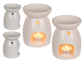 White Ceramic Oil Burner 2 Assorted 13cm