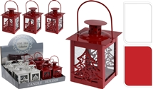 Metal Lantern With Festive Shape 6 Assorted 10cm
