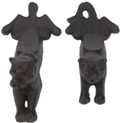 Cast Iron Dog / Cat Doorstopper - 2 Assorted