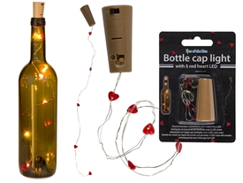 Bottle Cap Red Heart LED Lights