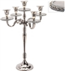 Nickel And Diamante 5 Candle Holder 41cm