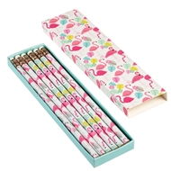 Flamingo Pencils In A Box