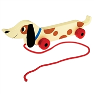 Sausage Dog Wooden Pull Toy