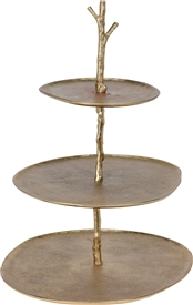 3 Tier Gold Cake Stand 45cm