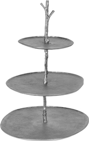 3 Tier Silver Cake Stand 45cm