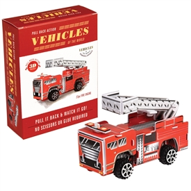 Make Your Own Pull Back Fire Engine 11cm