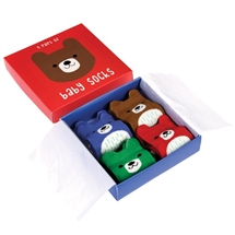 Pack Of 4 Bear Baby Socks
