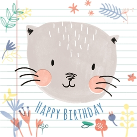Lilly The Cat Card 12cm