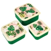 Tropical Palm Set Of 3 Snack Boxes 11cm