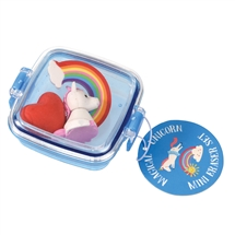 Unicorn Mini Eraser Set 8cm