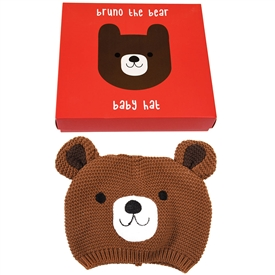Bruno The Bear Baby Hat 17cm