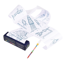 Space Age Colouring And Games Roll