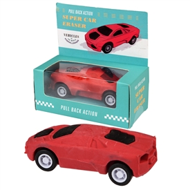 Red Pull Back Supercar Eraser Rubber