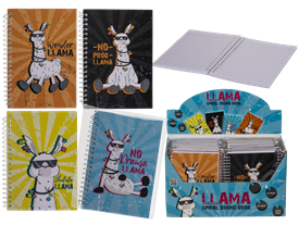 A6 Notebook Llama Design 4 assorted