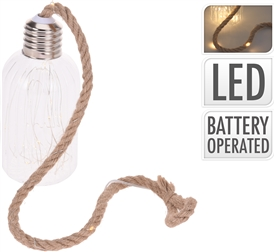 Glass Lamp With LED Rope