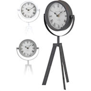 Vintage Clock On Tripod - 3 Asst